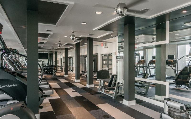 Treadmill with window views