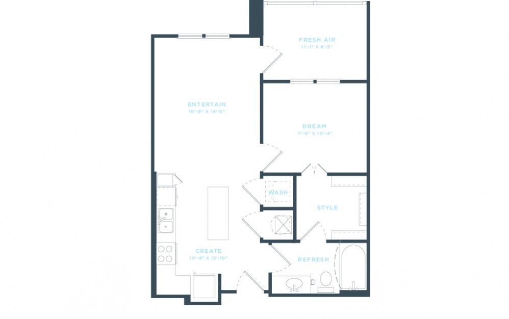 The Laurel - A1 Floorplan in 2D