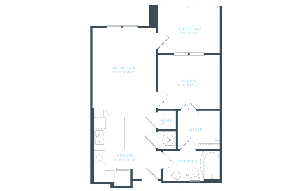 The Laurel - A1 Floorplan in 2D