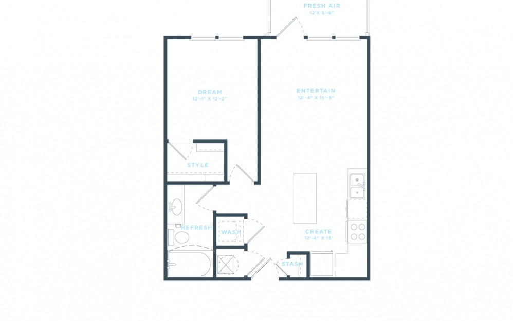 The Division (A2) Floorplan in 2D