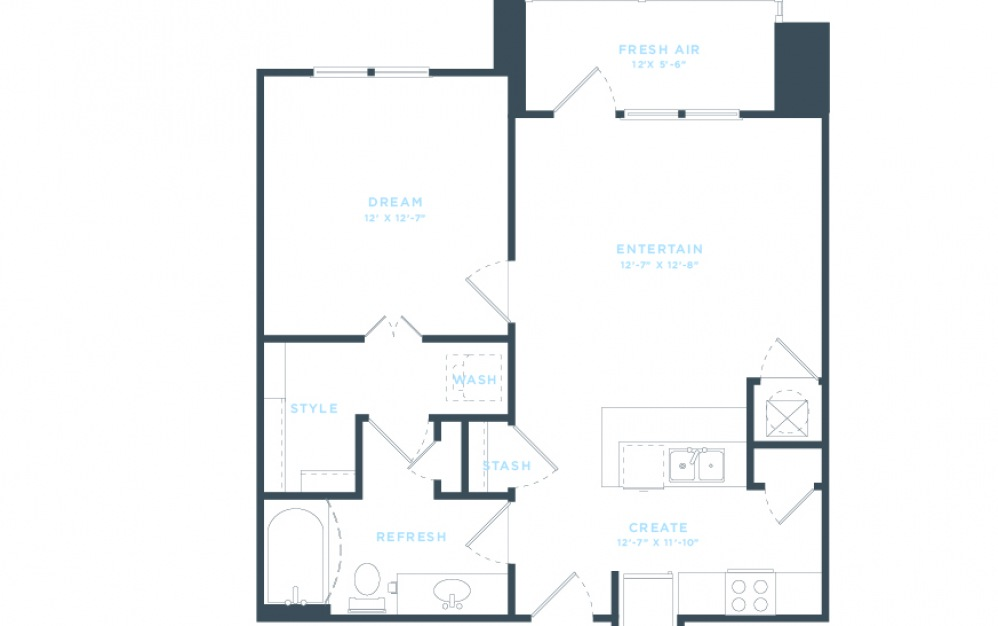 The Emmy (A3) Floorplan in 2D