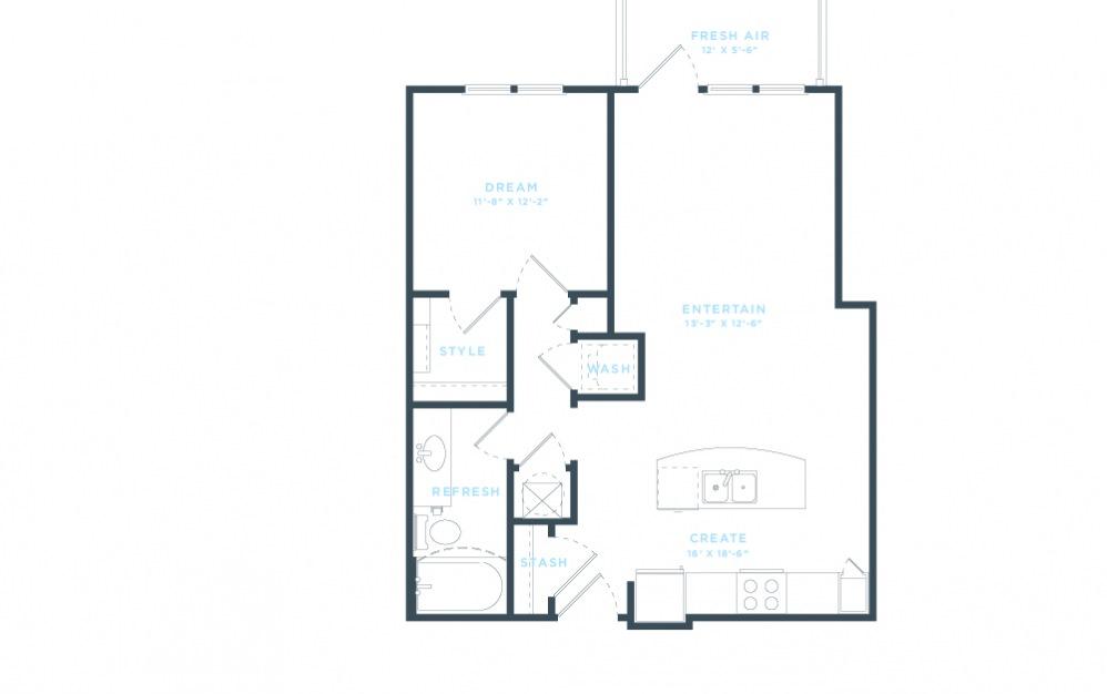The Demonbreun (A4) Floorplan in 2D