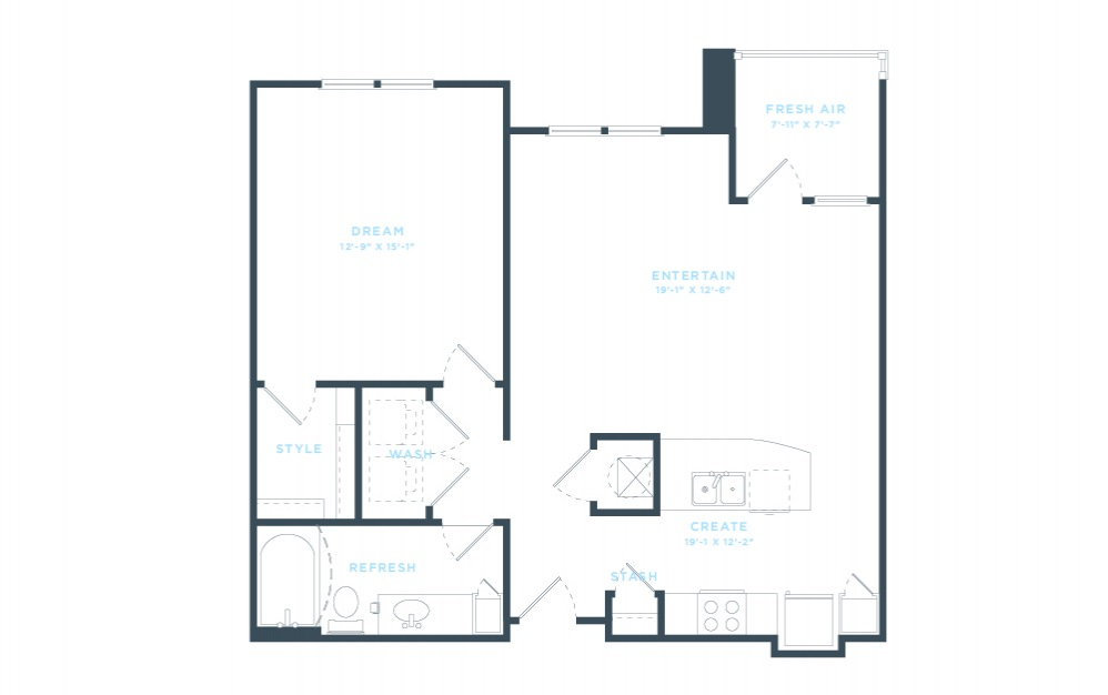 The Eleventh (A5) Floorplan in 2D