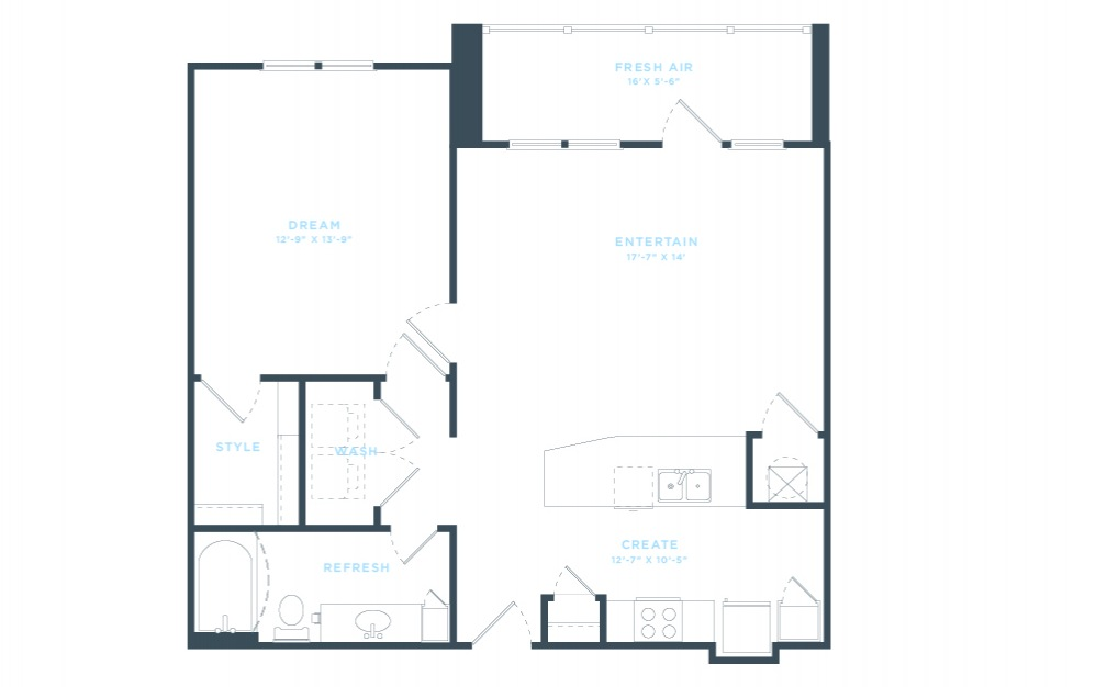 The Adele (A6) Floorplan in 2D