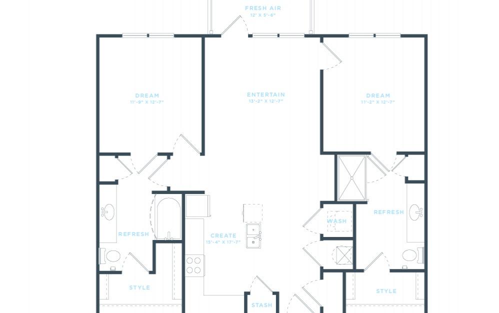 The Vine (B4) Floorplan in 2D