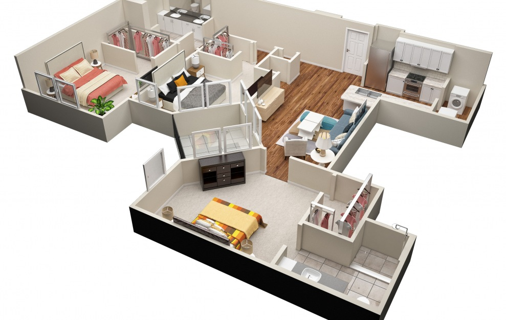 The Cole (C1) Floorplan in 3D