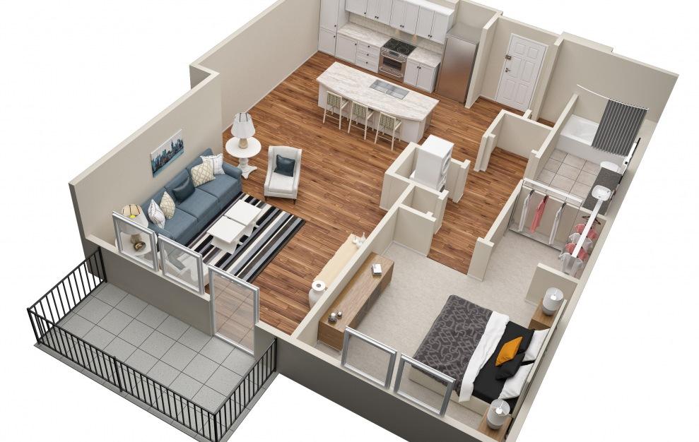 The Demonbreun (A4) Floorplan in 3D