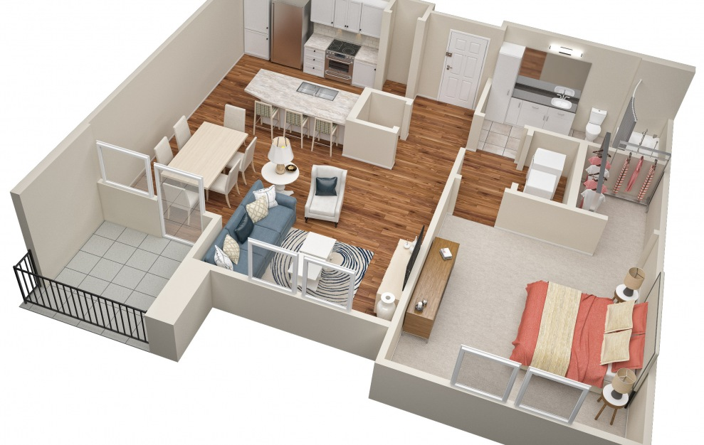 The Eleventh (A5) Floorplan in 3D