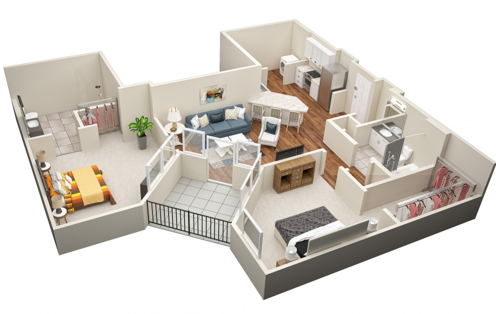 The Grundy (B3) Floorplan in 3D