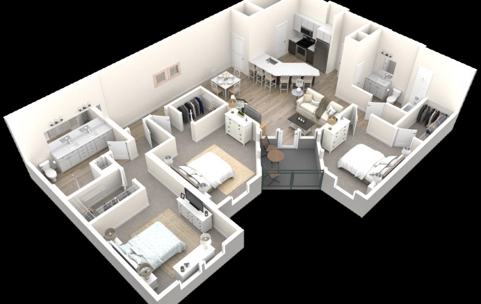 The Mansion (C2) Floorplan in 3D