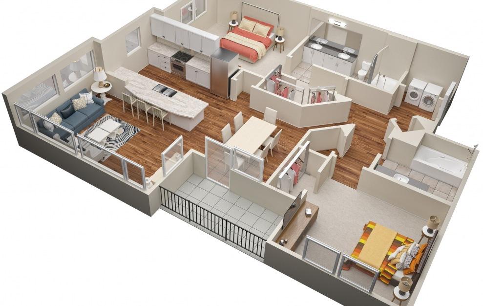 The McGavock (B2) Floorplan in 3D