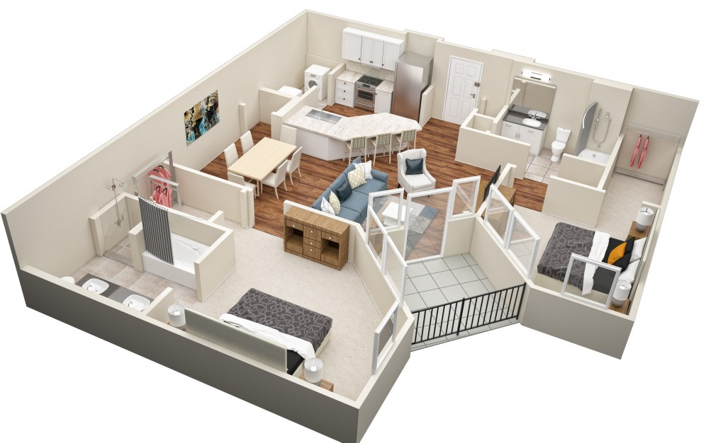 The Mulberry (B5) Floorplan in 3D
