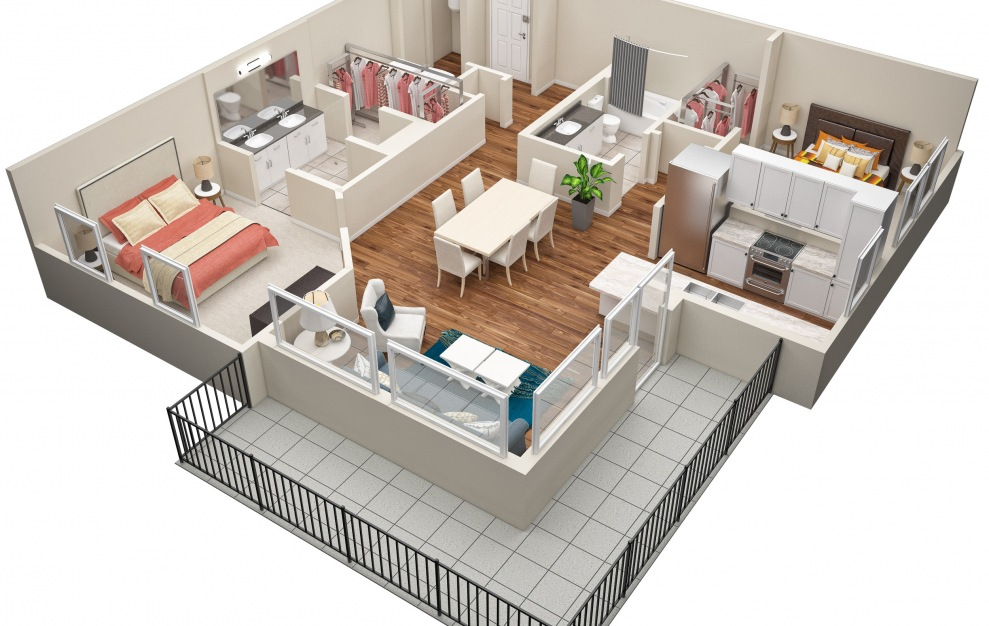 The Thompson (B6) Floorplan in 3D