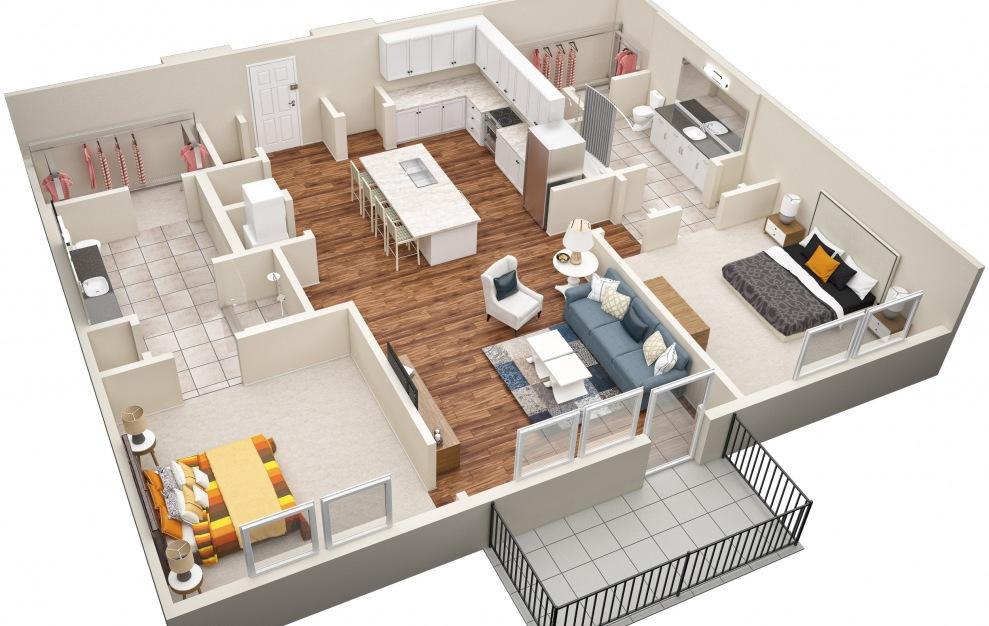 The Vine (B4) Floorplan in 3D